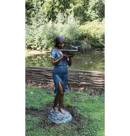 Eliassen Waterornament brons meisje met waterschaal