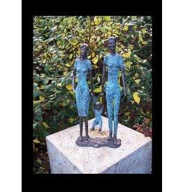 Beeld brons modern koppel met kind