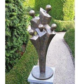 Beeld brons familie modern