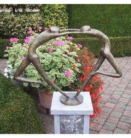 Abstrakt verliebten Paar Bronze