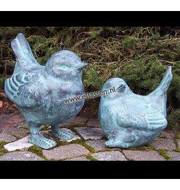 Vogelpaar 18 und 25cm bronze