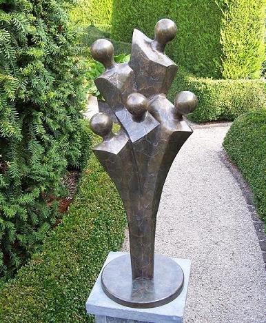Familien moderne Bronze