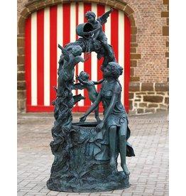 Fontein brons met 3 engeltjes