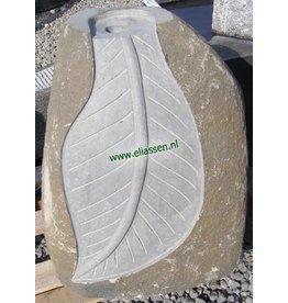 Eliassen Waterornament Leaf Basaltsteen