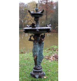 Tauben Brunnen Bronze