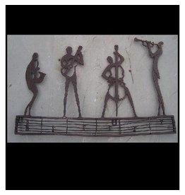 Muurdecoratie brons orkest
