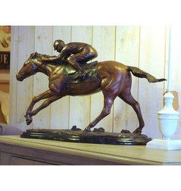 Eliassen Beeld brons paard met jockey