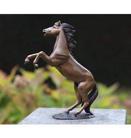 Beeld brons klein steigerend paardje