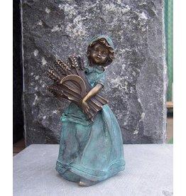 Eliassen Bild Bronze weiblich mit Maisstängeln