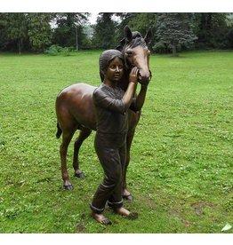 Eliassen Bild Bronze Mädchen mit Pferd