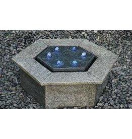 Sechskanthohl Reims Terrasse Brunnen
