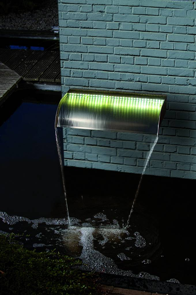 Ubbink Waterornament Ubbink waterval Nevada RVS 3 maten met of zonder led