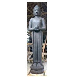 Eliassen Beeld staande boeddha met pot in 2 maten
