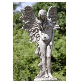 Tuinbeeld staande engel groot