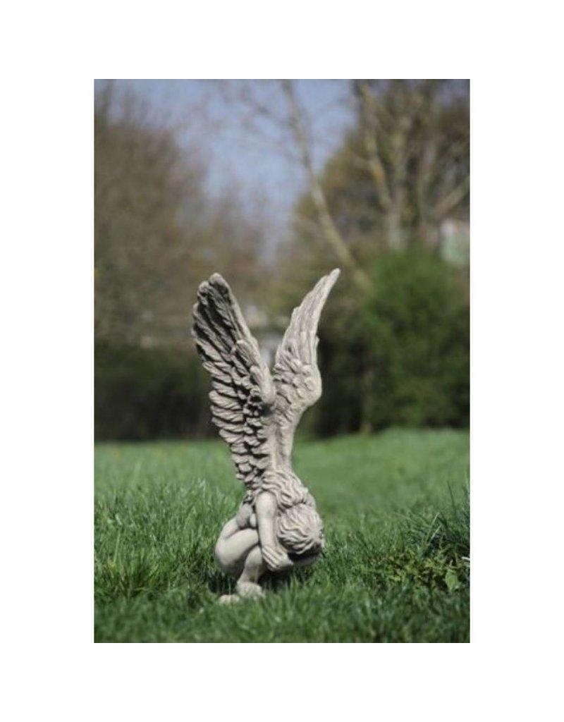Angel Bent Over Small Garden Statue