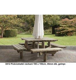 Picknicktafel vierkant groot