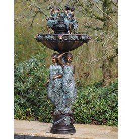 Fontein brons met 3 vrouwen