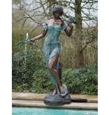 Eliassen Spritzenfiguren-Bronzeblumenfrau