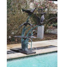 Fontein brons 4 eenden