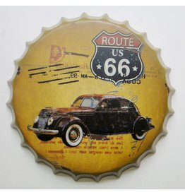 Eliassen Bierdeckel Wanddekoration Route 66 US