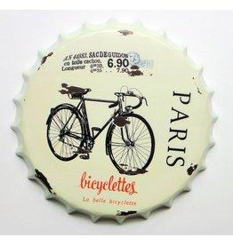 Bierdop muurdecoratie Bicyclettes