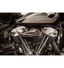 Eliassen Glas-schilderij 60x90cm Harley Power
