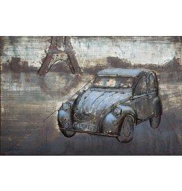 3D schilderij metaal 80x120cm French Pride