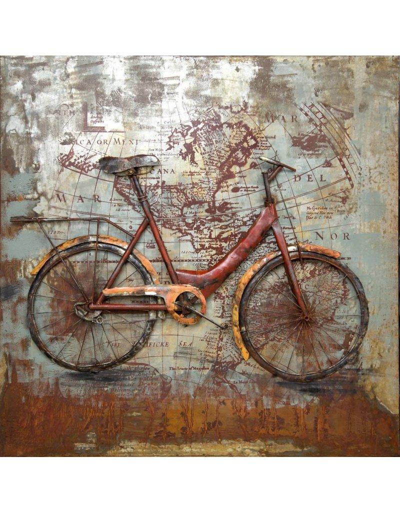 3D-Malerei Biken die Welt