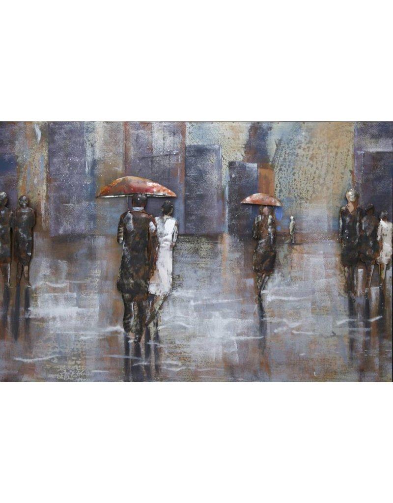 3D-Malerei zu Fuß in der regen