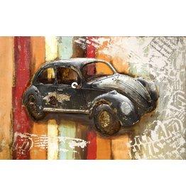 3D schilderij metaal 80x120cm VW Kever