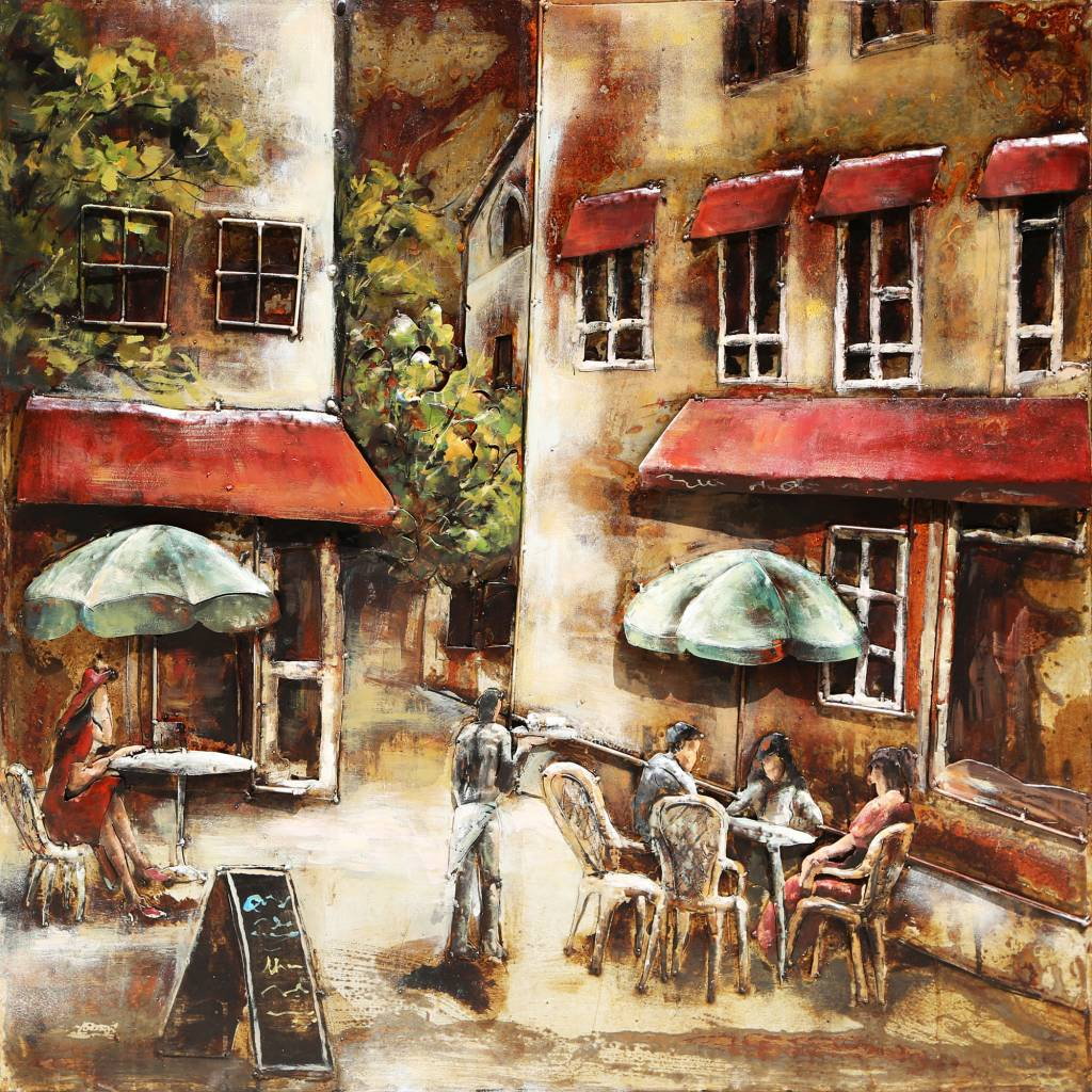 3d schilderij metaal 100x100cm terras eliassen home garden pleasure - Ijzer terras ...