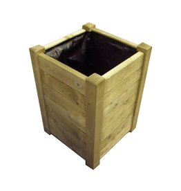Wooden flower box hoog5050 Sprachen