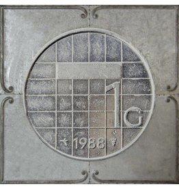 3D schilderij metaal 71x71x4cm Gulden