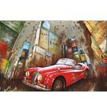 Eliassen 3D-Malerei Metall 120x80x7cm Stadt