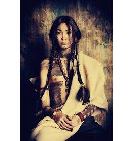 Glas-schilderij 120x80cm Indian Girl
