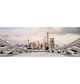 Eliassen Gemälde Glas 160x60cm City Sky