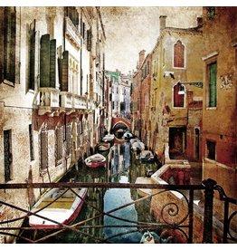Eliassen Schilderij glas 80x80cm Venetie