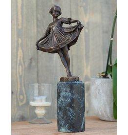 Beeld brons danseres art deco eliassen home garden pleasure - Deco meisje ...