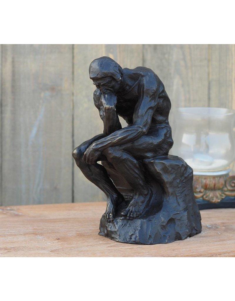 Beeld brons denker van rodin 28 cm eliassen home garden pleasure - Beeld van decoratie ...