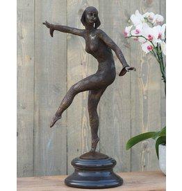 Eliassen Skulptur Bronze Tänzerin Art Deco 66 cm