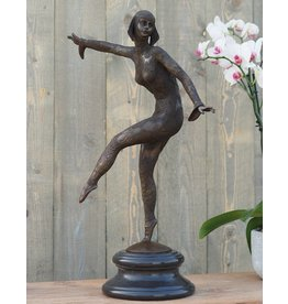 Tänzer Mädchen Art Deco 66 cm Bronze