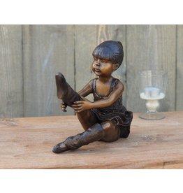 Sitzende Ballerina Bronze