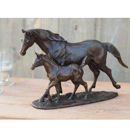 Bronze Pferd und Fohlen
