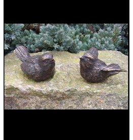 Paar Vögel Bronze