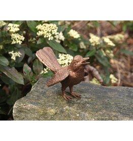 Vogel mit ausgebreiteten veugels Bronze