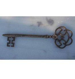 Muurdecoratie brons sleutel