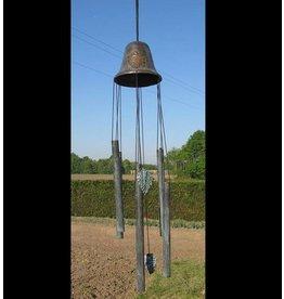 Windgong brons grote bel met druiven