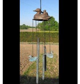 Windspiele Rohre aus Bronze Enten