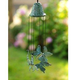 Windspiele mit Schmetterlingen Bronze