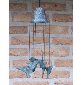 Windgong brons met vogels